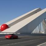 RB on Zaha Hadid bridge for RedBall Abu Dhabi.